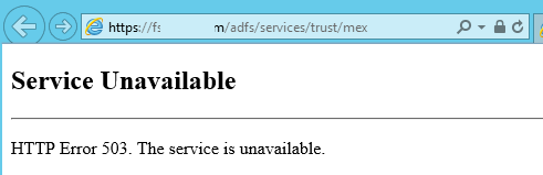 http 1.1 503 service unavailable